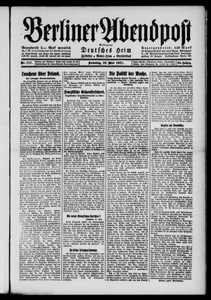 Berliner Abendpost vom 22.05.1921