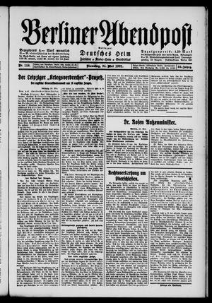 Berliner Abendpost vom 24.05.1921