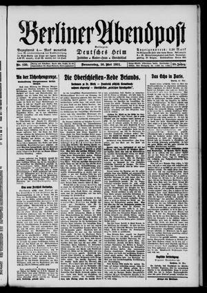 Berliner Abendpost vom 26.05.1921