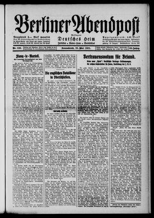Berliner Abendpost vom 28.05.1921