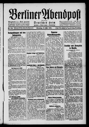 Berliner Abendpost vom 31.05.1921
