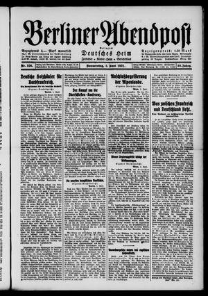 Berliner Abendpost vom 02.06.1921