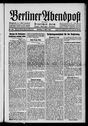 Berliner Abendpost vom 05.06.1921