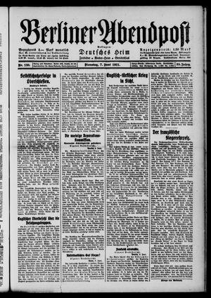 Berliner Abendpost vom 07.06.1921