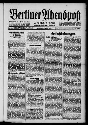 Berliner Abendpost vom 08.06.1921