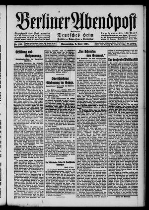 Berliner Abendpost vom 09.06.1921