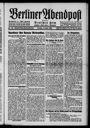 Berliner Abendpost vom 10.06.1921