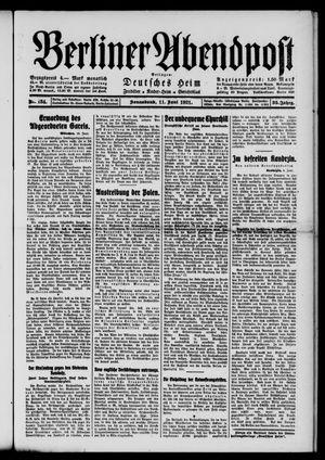 Berliner Abendpost vom 11.06.1921