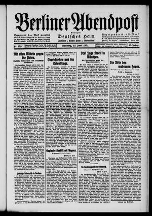 Berliner Abendpost vom 12.06.1921
