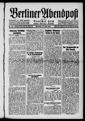 Berliner Abendpost vom 15.06.1921