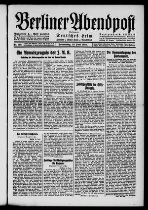 Berliner Abendpost vom 16.06.1921