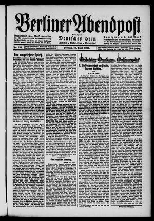 Berliner Abendpost vom 17.06.1921