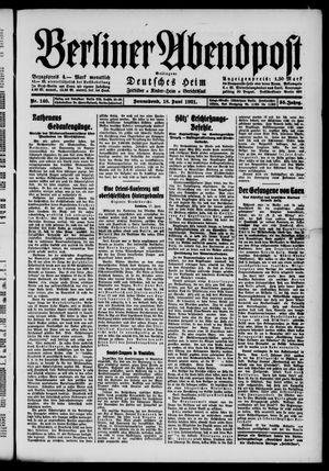 Berliner Abendpost vom 18.06.1921