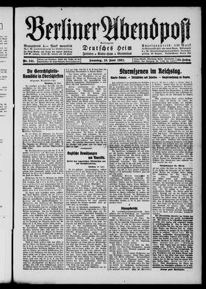 Berliner Abendpost vom 19.06.1921