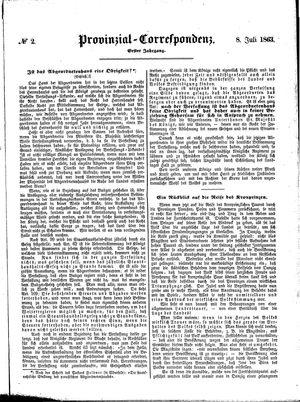 Provinzial-Correspondenz vom 08.07.1863