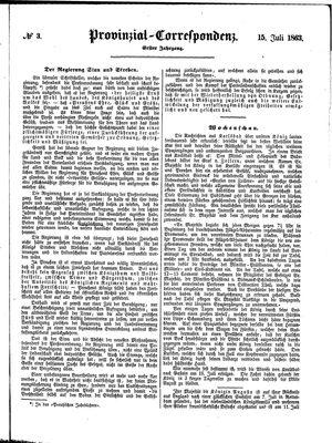 Provinzial-Correspondenz vom 15.07.1863