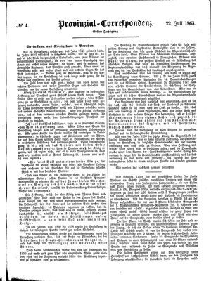 Provinzial-Correspondenz vom 22.07.1863