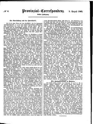 Provinzial-Correspondenz vom 05.08.1863