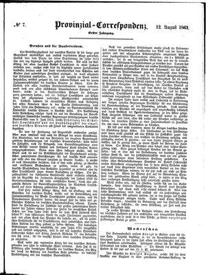 Provinzial-Correspondenz vom 12.08.1863