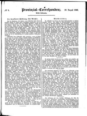 Provinzial-Correspondenz vom 19.08.1863