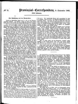 Provinzial-Correspondenz vom 09.09.1863