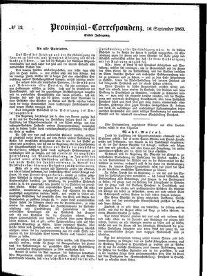 Provinzial-Correspondenz vom 16.09.1863
