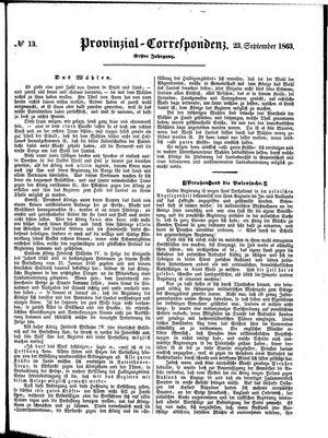 Provinzial-Correspondenz vom 23.09.1863