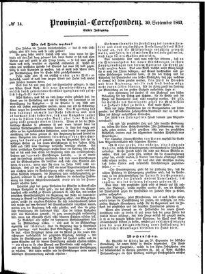 Provinzial-Correspondenz vom 30.09.1863