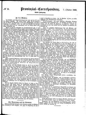 Provinzial-Correspondenz vom 07.10.1863