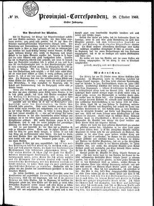 Provinzial-Correspondenz vom 28.10.1863
