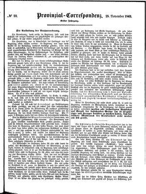 Provinzial-Correspondenz on Nov 25, 1863