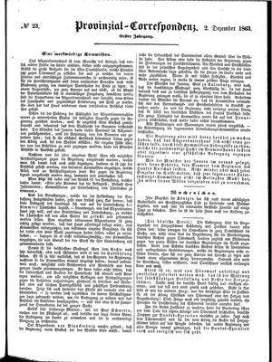 Provinzial-Correspondenz on Dec 2, 1863