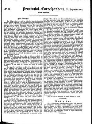 Provinzial-Correspondenz vom 23.12.1863