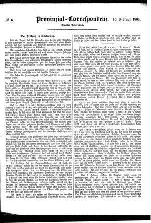 Provinzial-Correspondenz on Feb 10, 1864