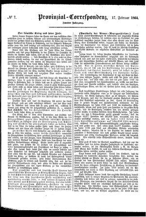 Provinzial-Correspondenz vom 17.02.1864