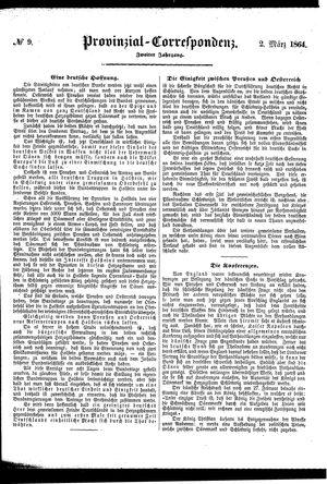 Provinzial-Correspondenz vom 02.03.1864