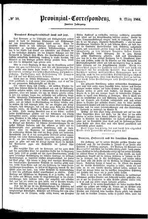Provinzial-Correspondenz vom 09.03.1864
