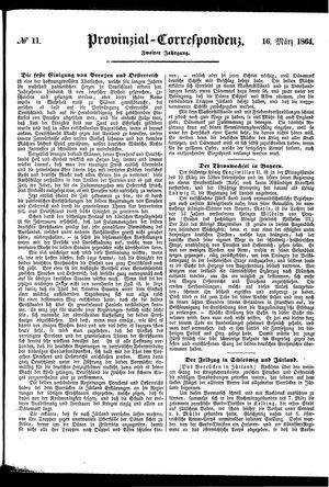 Provinzial-Correspondenz vom 16.03.1864