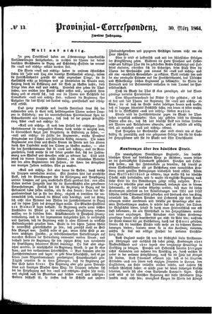 Provinzial-Correspondenz vom 30.03.1864