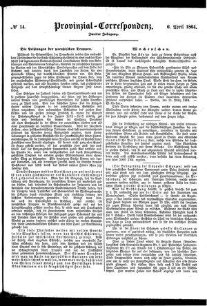 Provinzial-Correspondenz vom 06.04.1864