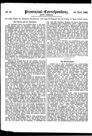 Provinzial-Correspondenz vom 13.04.1864