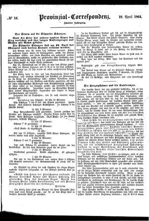 Provinzial-Correspondenz vom 19.04.1864
