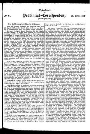 Provinzial-Correspondenz vom 22.04.1864