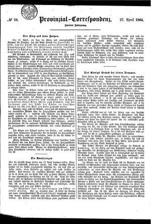 Provinzial-Correspondenz vom 27.04.1864