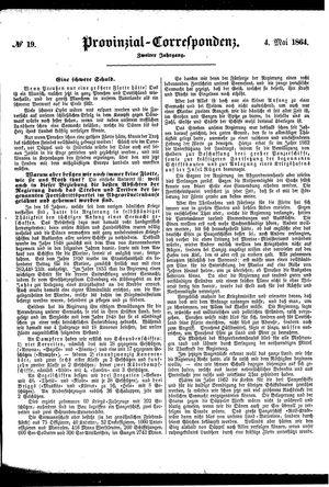 Provinzial-Correspondenz vom 04.05.1864