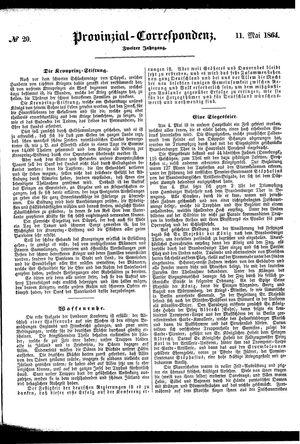Provinzial-Correspondenz vom 11.05.1864