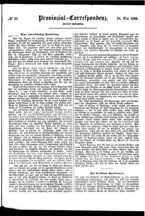 Provinzial-Correspondenz vom 18.05.1864