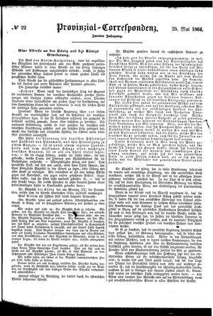Provinzial-Correspondenz vom 25.05.1864