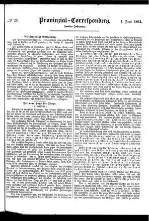Provinzial-Correspondenz vom 01.06.1864