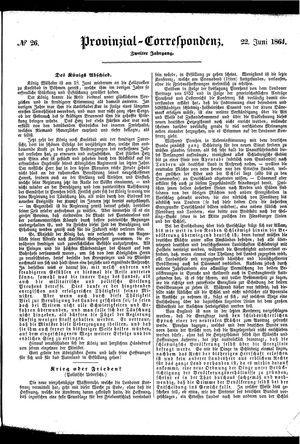 Provinzial-Correspondenz on Jun 22, 1864